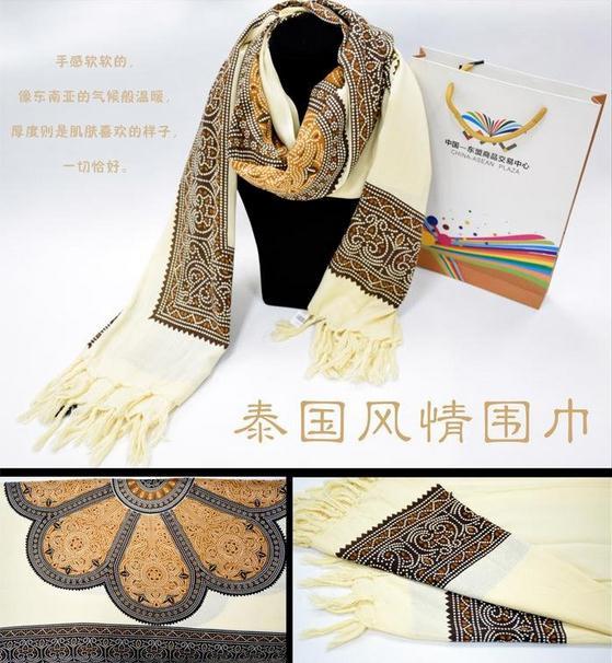 【泰国进口】泰丝围巾披肩图片二