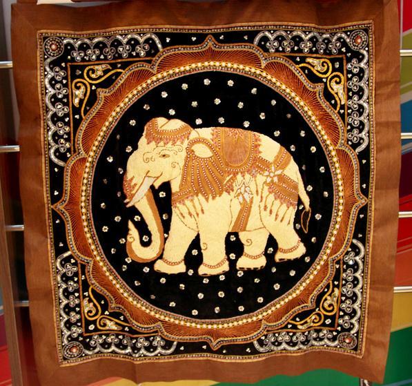【泰国进口】手工珠绣大象挂件图片二