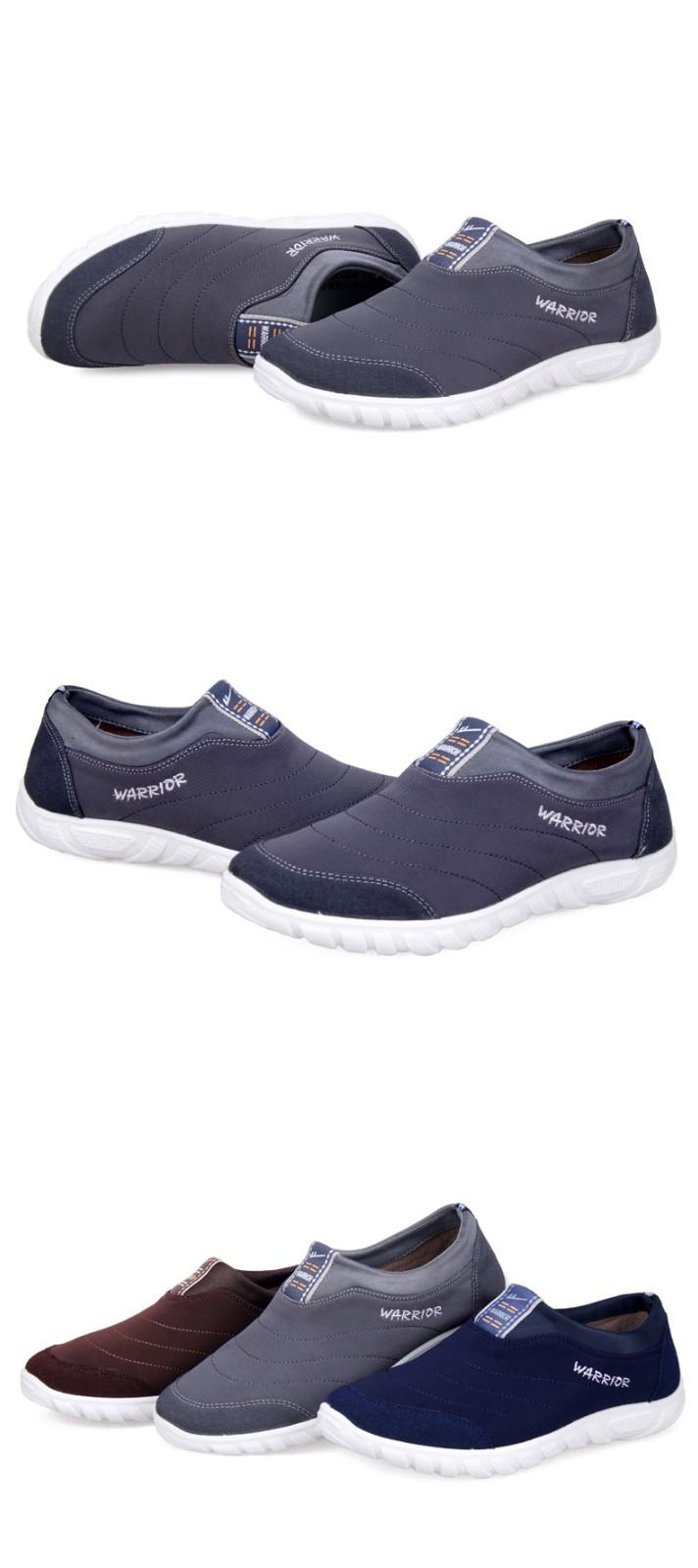 回力男鞋帆布鞋子一脚蹬懒人鞋男士潮流韩版布鞋透气鞋图片十三