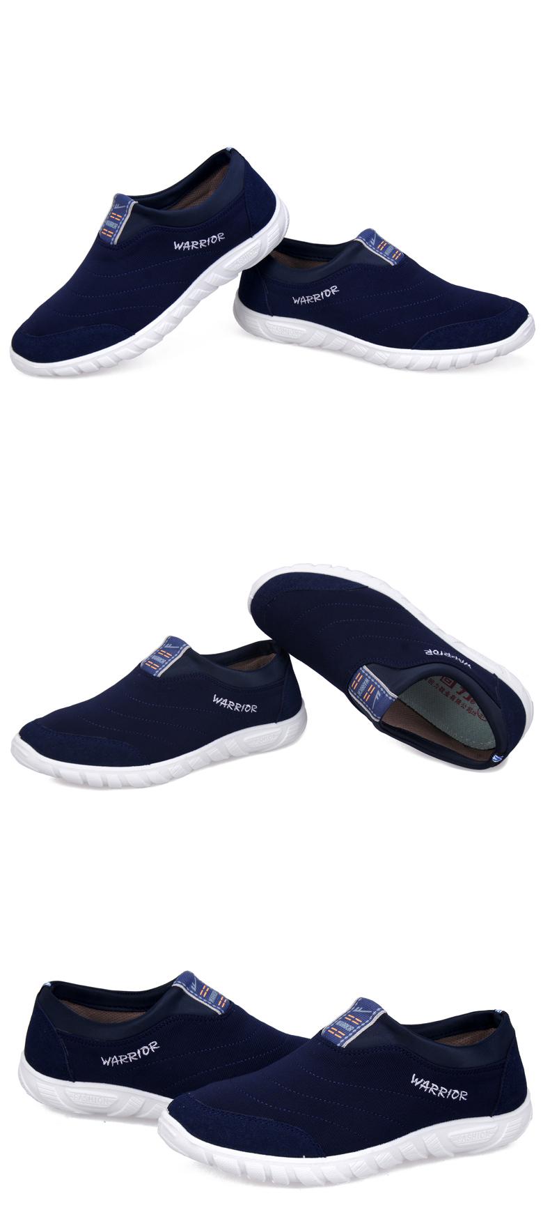 回力男鞋帆布鞋子一脚蹬懒人鞋男士潮流韩版布鞋透气鞋图片二十二