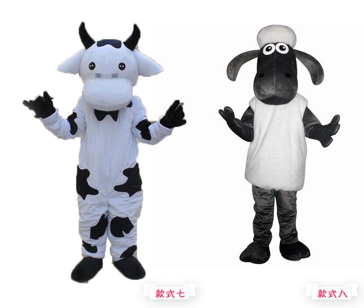 奶牛系列演出服装街头表演图片八