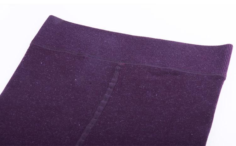 龙爪毛暗纹打底保暖裤图片十八