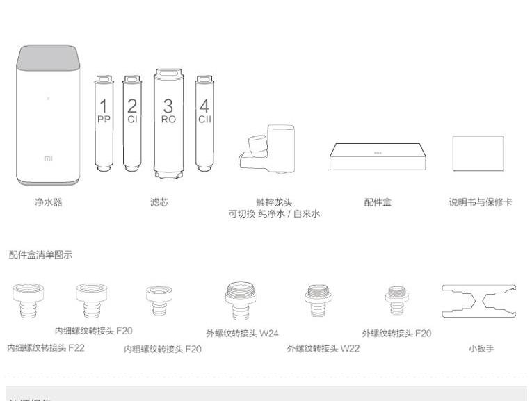 小米净水器 反渗透家用直饮净水器图片十六