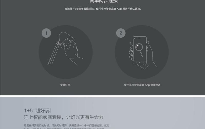 Yeelight LED智能灯泡 亮度自由调节图片九
