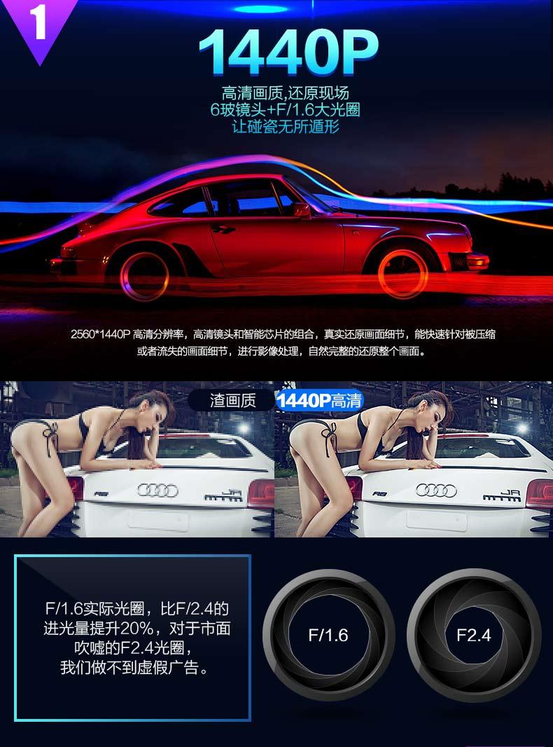 DG动感车夫S8行车记录仪A12停车监控1440P图片四