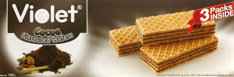 【泰国】皇室紫罗兰可可味华夫饼干100g图片一