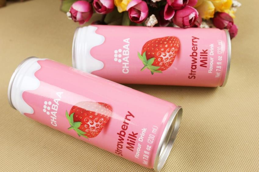 【泰国】芭提娅听装含奶草莓汁饮料图片四
