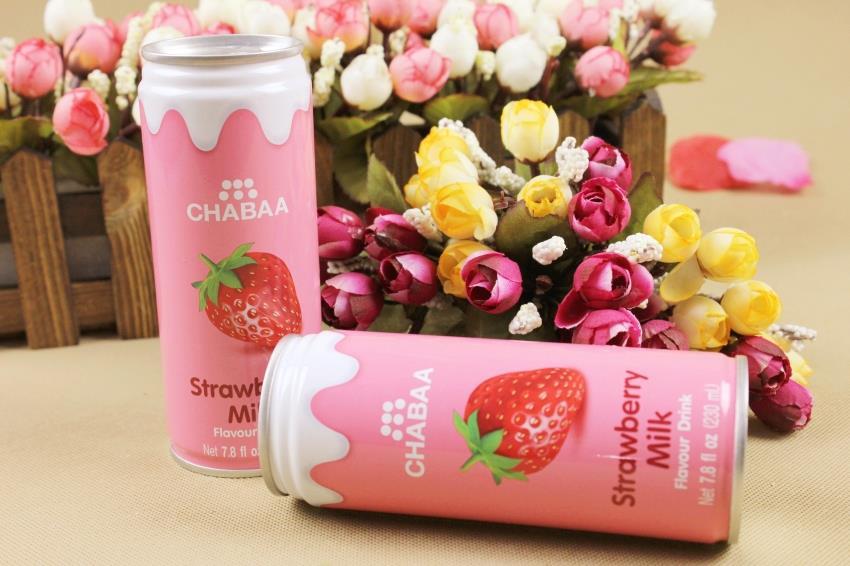 【泰国】芭提娅听装含奶草莓汁饮料图片六