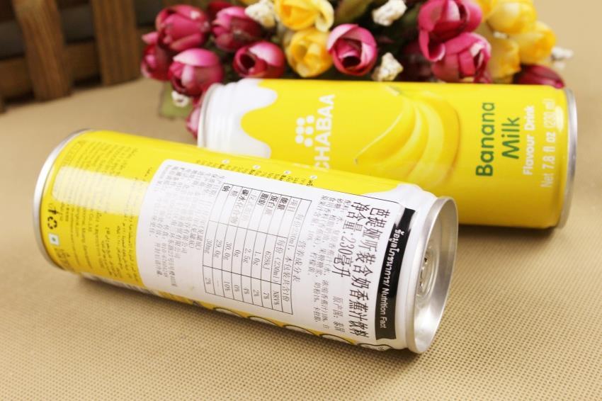 【泰国】芭提娅听装含奶香蕉汁饮料图片三