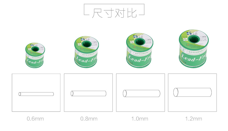 中实环保无铅铝焊型锡线1.0mm 800g/卷图片七