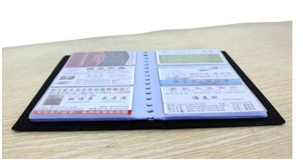 BM180张名片册 商务名片夹 竖式高级商务名片簿图片三