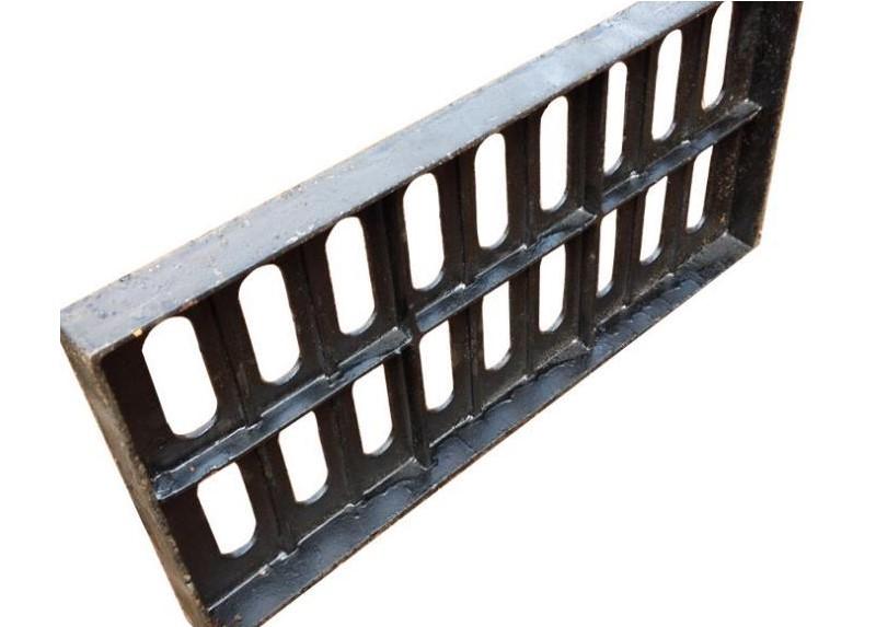 球墨铸铁单篦子铸铁沟盖雨水篦子排水沟盖板雨水井盖图片三