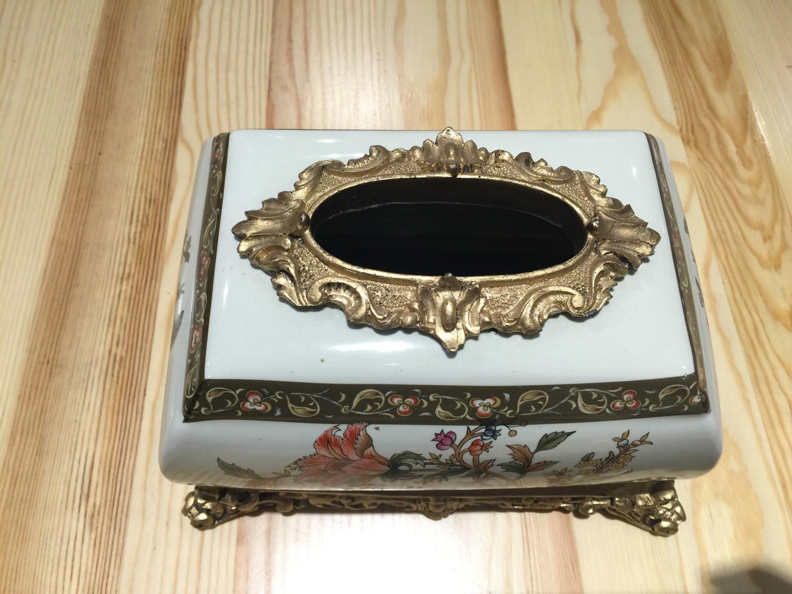 俄罗斯牙瓷纸巾盒 收纳盒 装饰摆件 批发 团购图片三