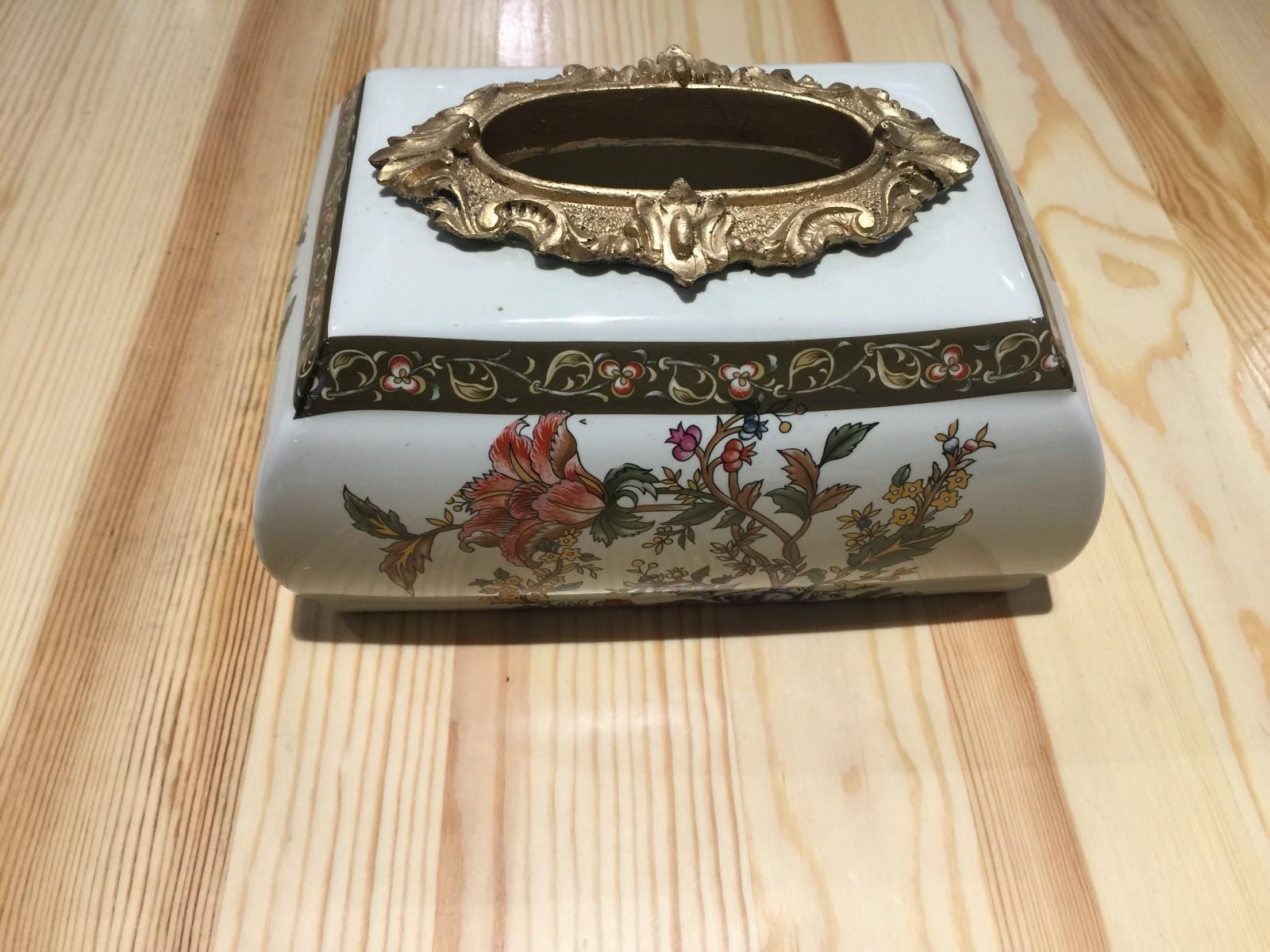 俄罗斯牙瓷纸巾盒 收纳盒 装饰摆件 批发 团购图片五