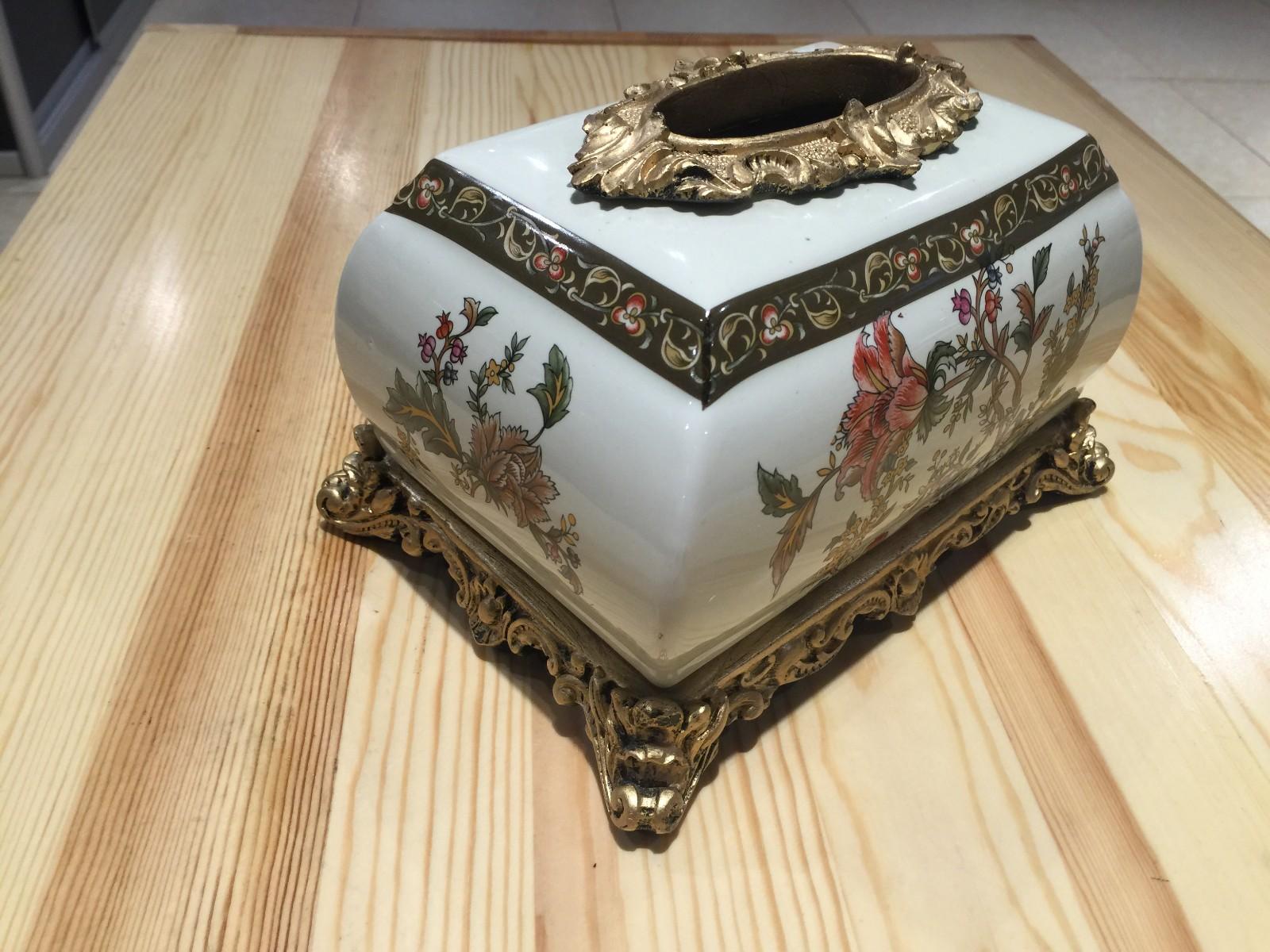 俄罗斯牙瓷纸巾盒 收纳盒 装饰摆件 批发 团购图片七