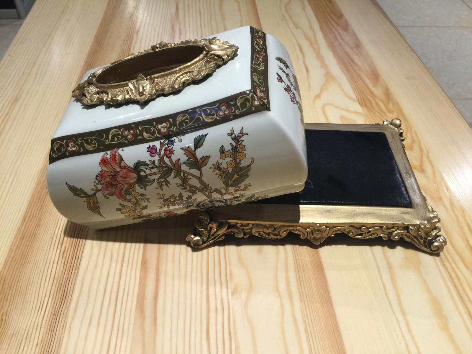 俄罗斯牙瓷纸巾盒 收纳盒 装饰摆件 批发 团购图片六
