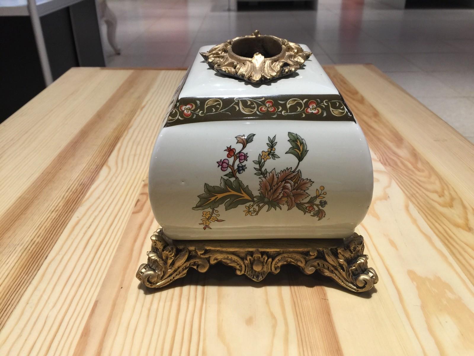 俄罗斯牙瓷纸巾盒 收纳盒 装饰摆件 批发 团购图片八