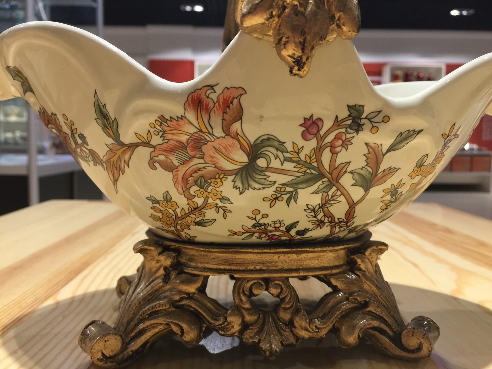 俄罗斯 陶瓷 工艺品 手工摆件 家居装饰图片四
