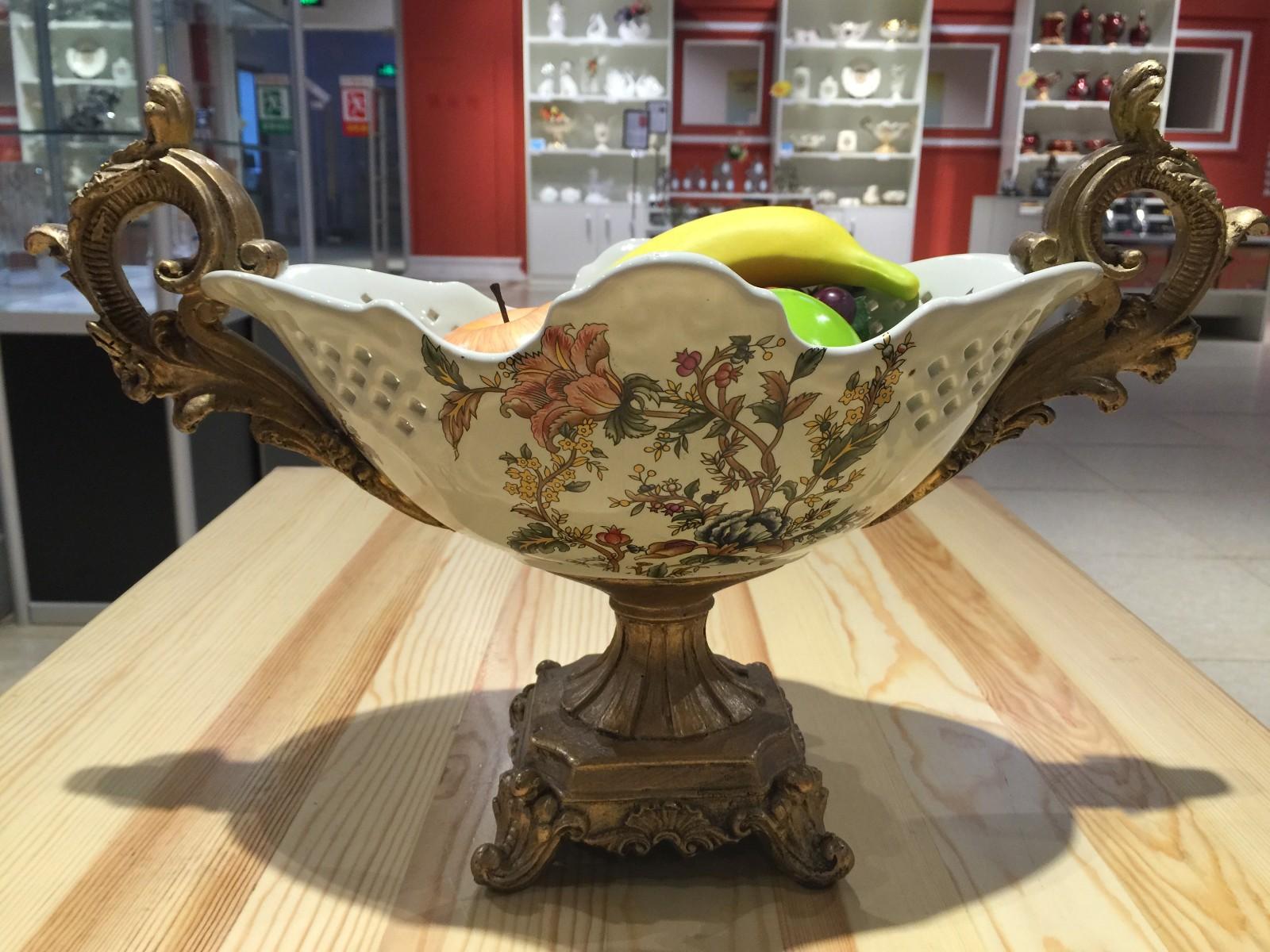 俄罗斯 陶瓷 工艺品 手工摆件 家居装饰图片一