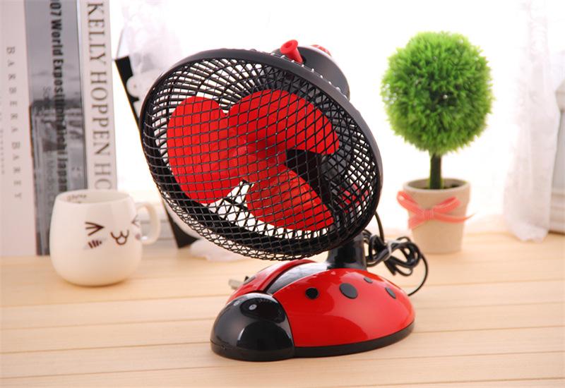 创意甲虫卧室摇头扇桌面电风扇小型台扇转页扇图片二