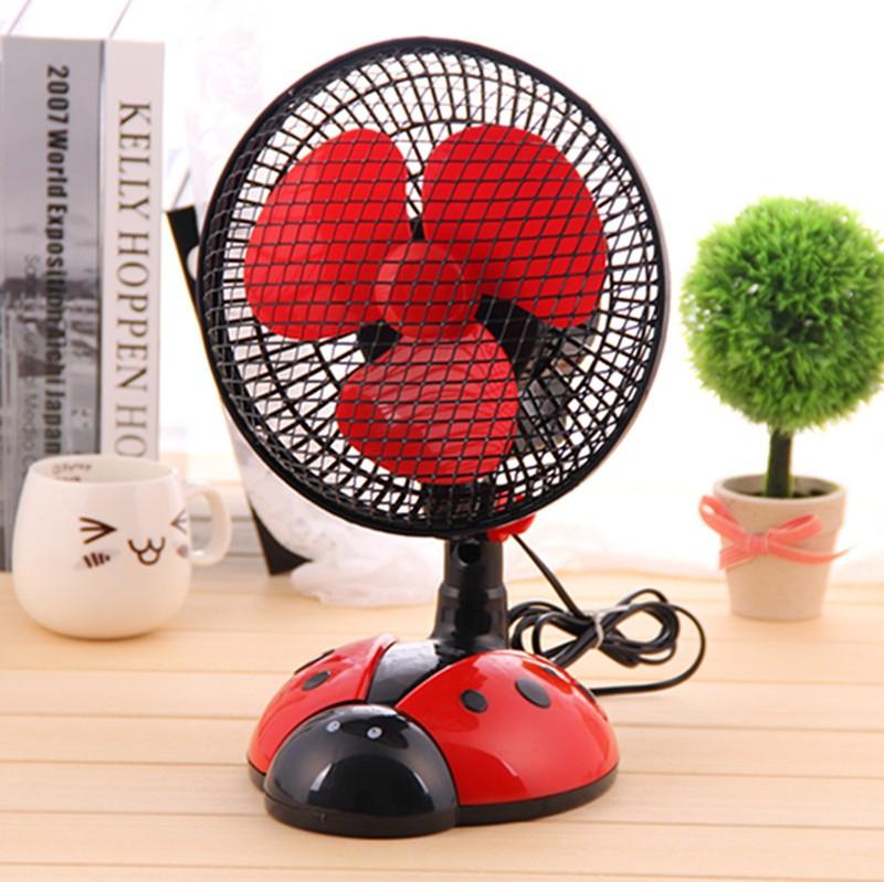 创意甲虫卧室摇头扇桌面电风扇小型台扇转页扇图片一