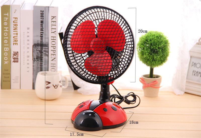 创意甲虫卧室摇头扇桌面电风扇小型台扇转页扇图片四