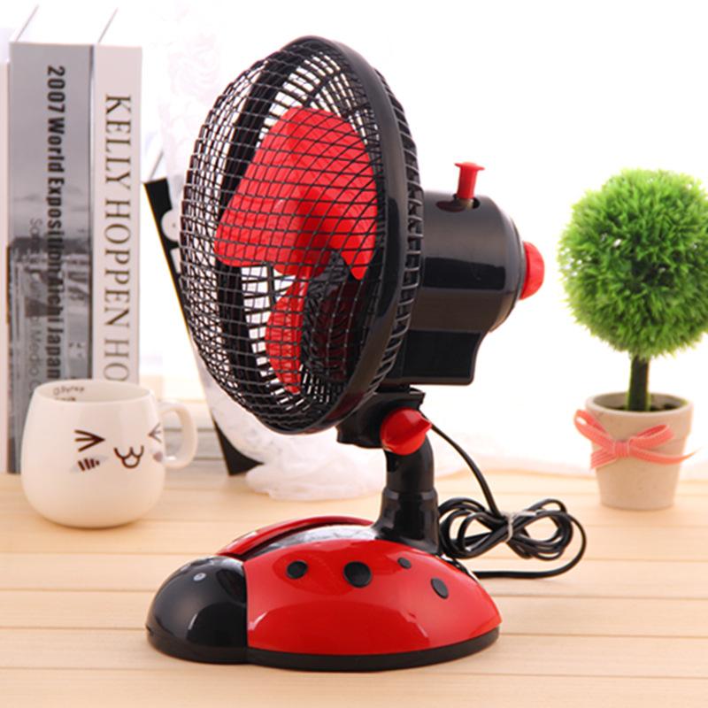 创意甲虫卧室摇头扇桌面电风扇小型台扇转页扇图片五