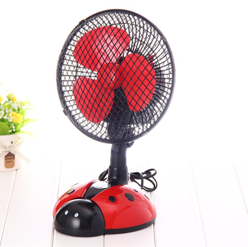创意甲虫卧室摇头扇桌面电风扇小型台扇转页扇图片八