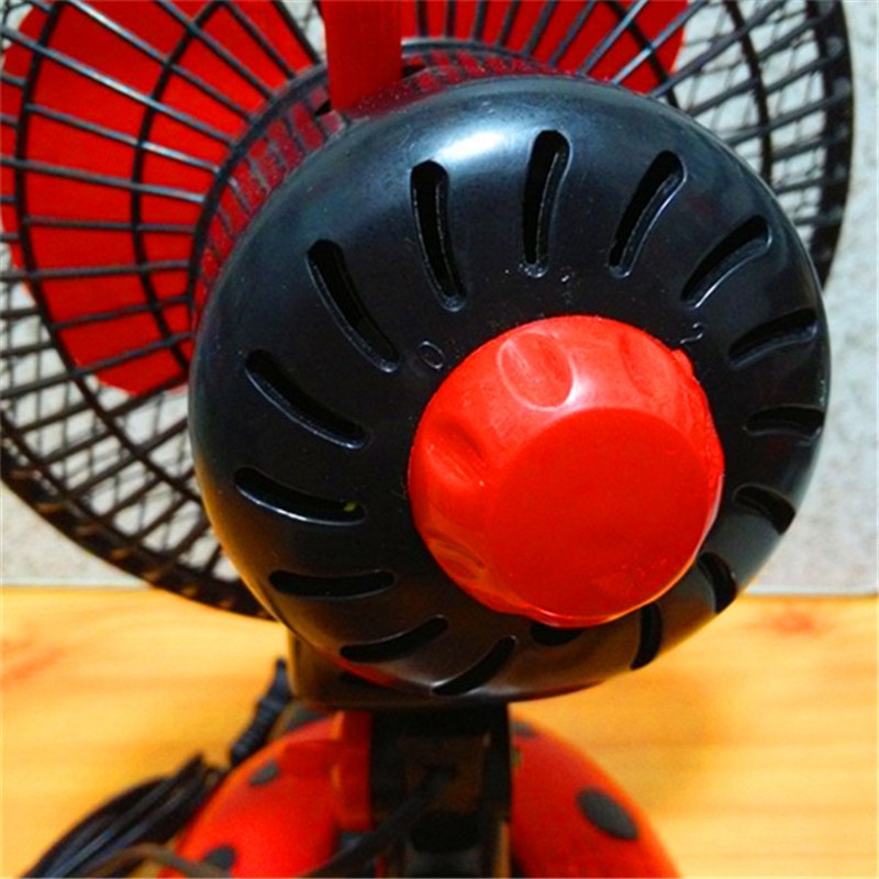 创意甲虫卧室摇头扇桌面电风扇小型台扇转页扇图片十