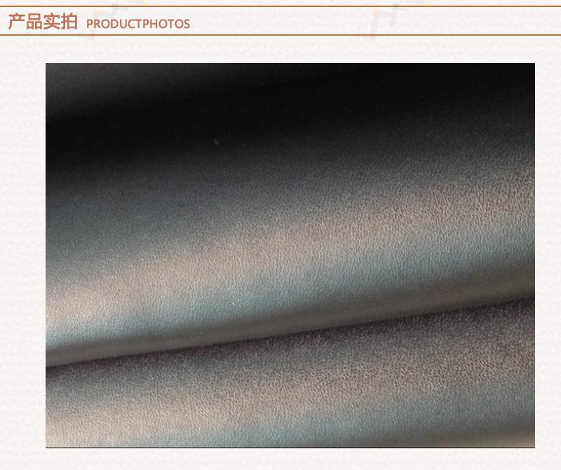 黑色 二层B100纹牛皮 箱包皮 复膜牛皮图片四