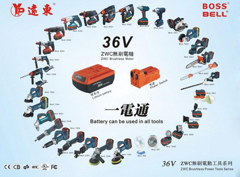 BOSS新品电动工具36V无刷充电式往复锯刀马锯图片六