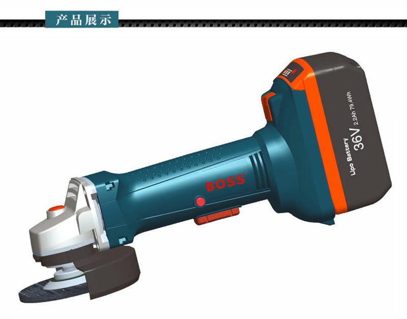 36V充电式角磨机BOSS波士电动工具角向磨光机图片三