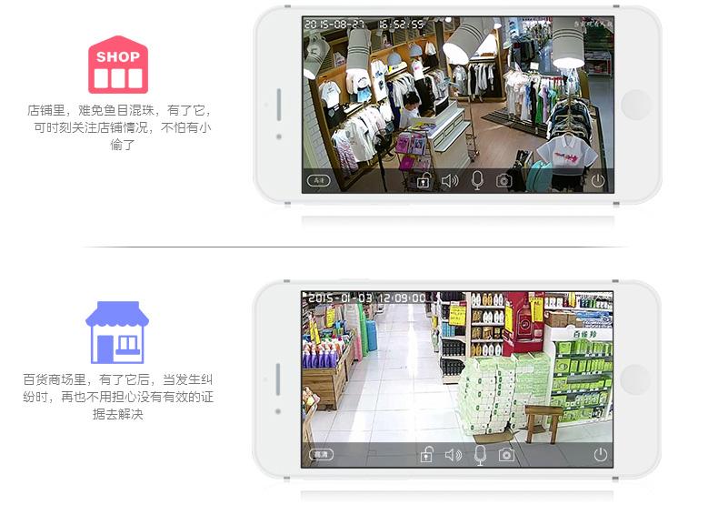 1080P网络摄像机百万高清无线摄像头手机远程监控图片三