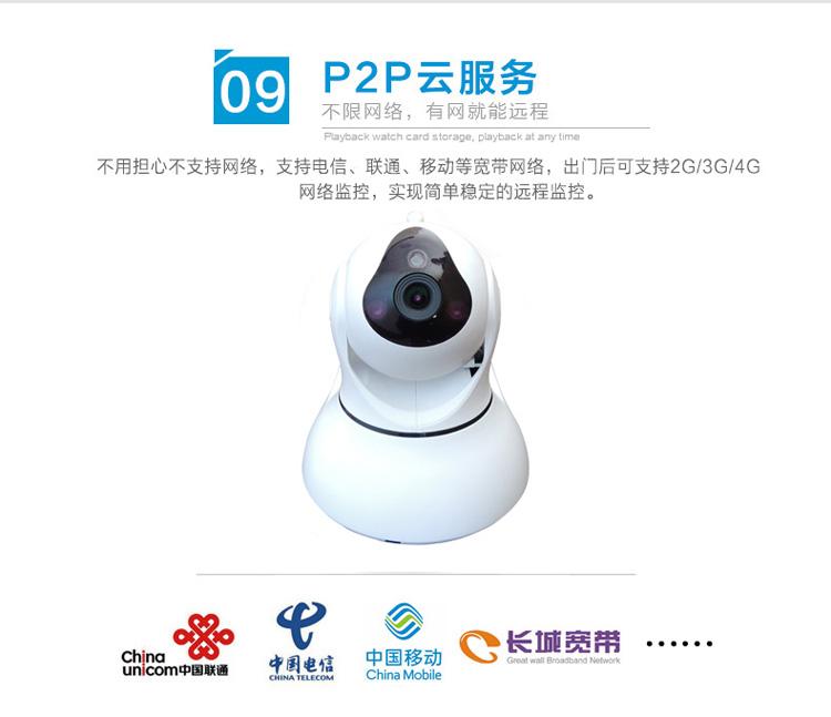 1080P网络摄像机百万高清无线摄像头手机远程监控图片十七