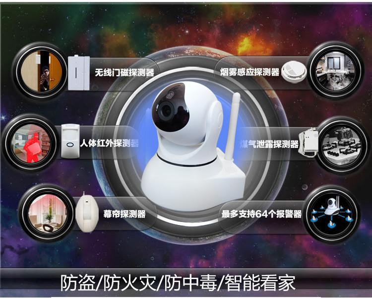 1080P网络摄像机百万高清无线摄像头手机远程监控图片七