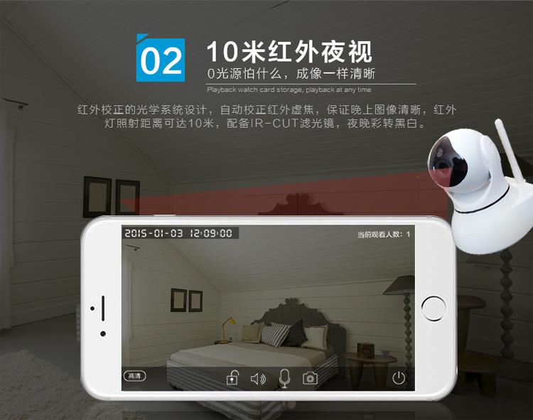 1080P网络摄像机百万高清无线摄像头手机远程监控图片十