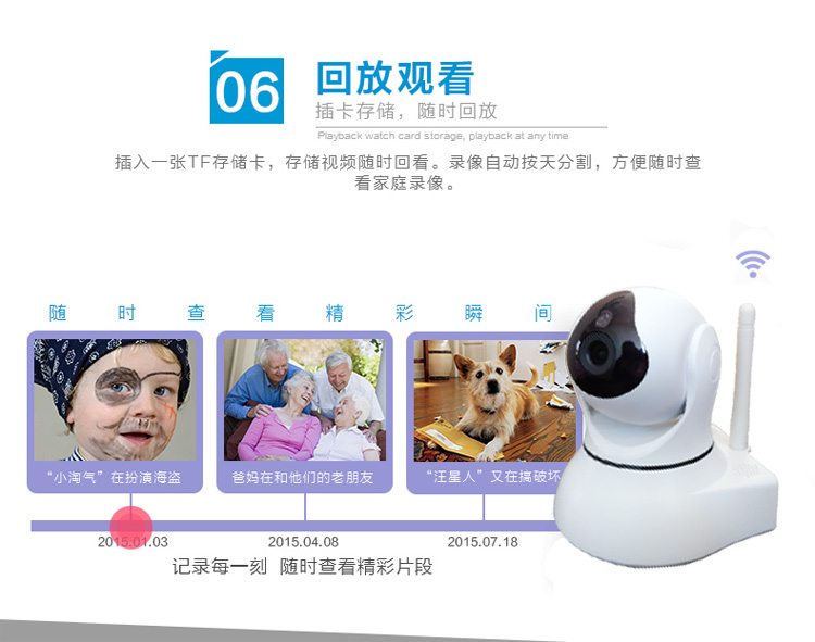 1080P网络摄像机百万高清无线摄像头手机远程监控图片十四