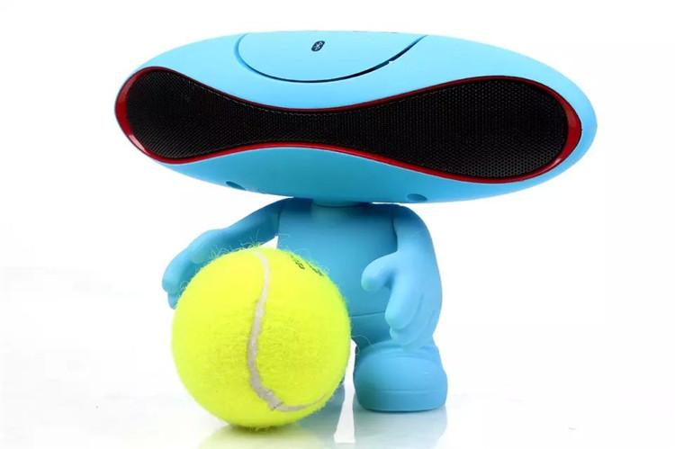 外星人橄榄球小音响手机无线蓝牙音箱电脑桌公仔蓝牙音图片七