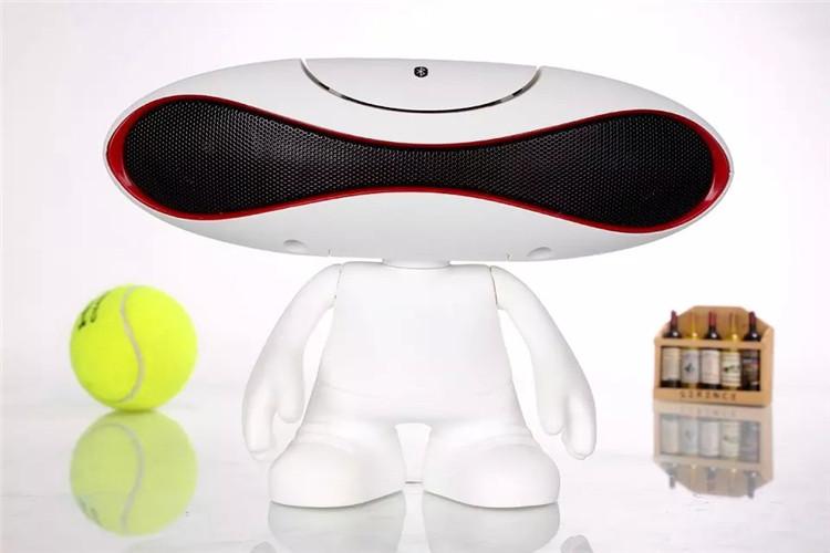 外星人橄榄球小音响手机无线蓝牙音箱电脑桌公仔蓝牙音图片九