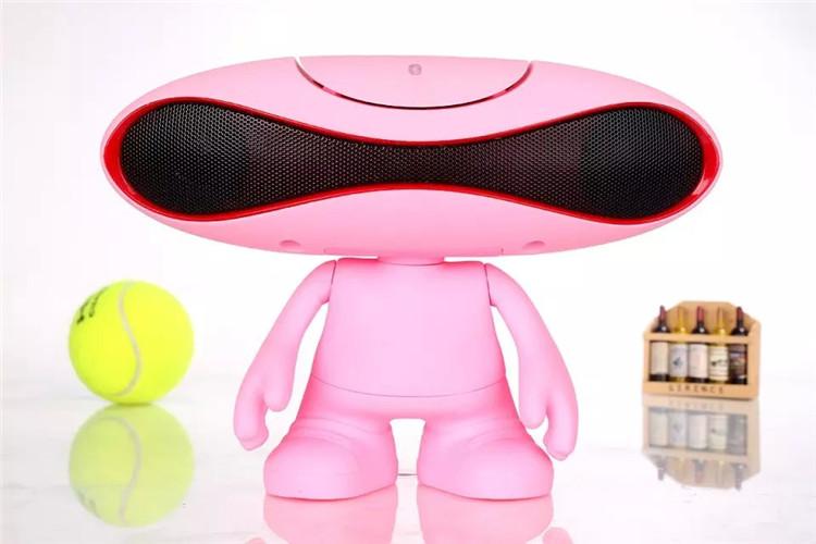 外星人橄榄球小音响手机无线蓝牙音箱电脑桌公仔蓝牙音图片八