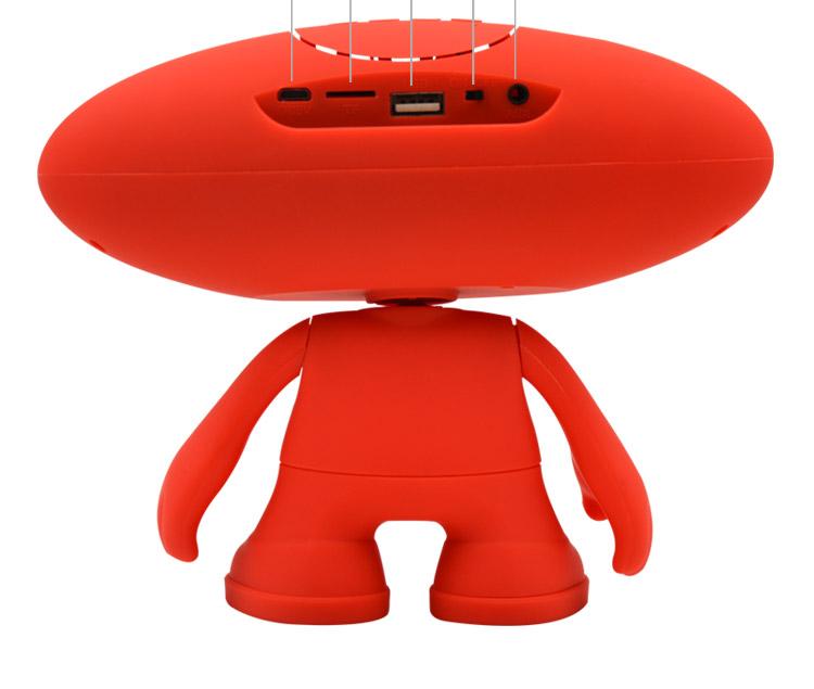 外星人橄榄球小音响手机无线蓝牙音箱电脑桌公仔蓝牙音图片十