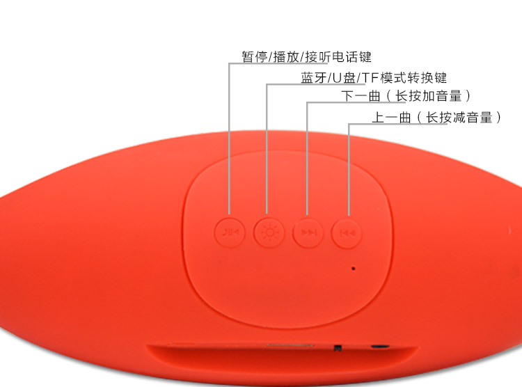 外星人橄榄球小音响手机无线蓝牙音箱电脑桌公仔蓝牙音图片十一