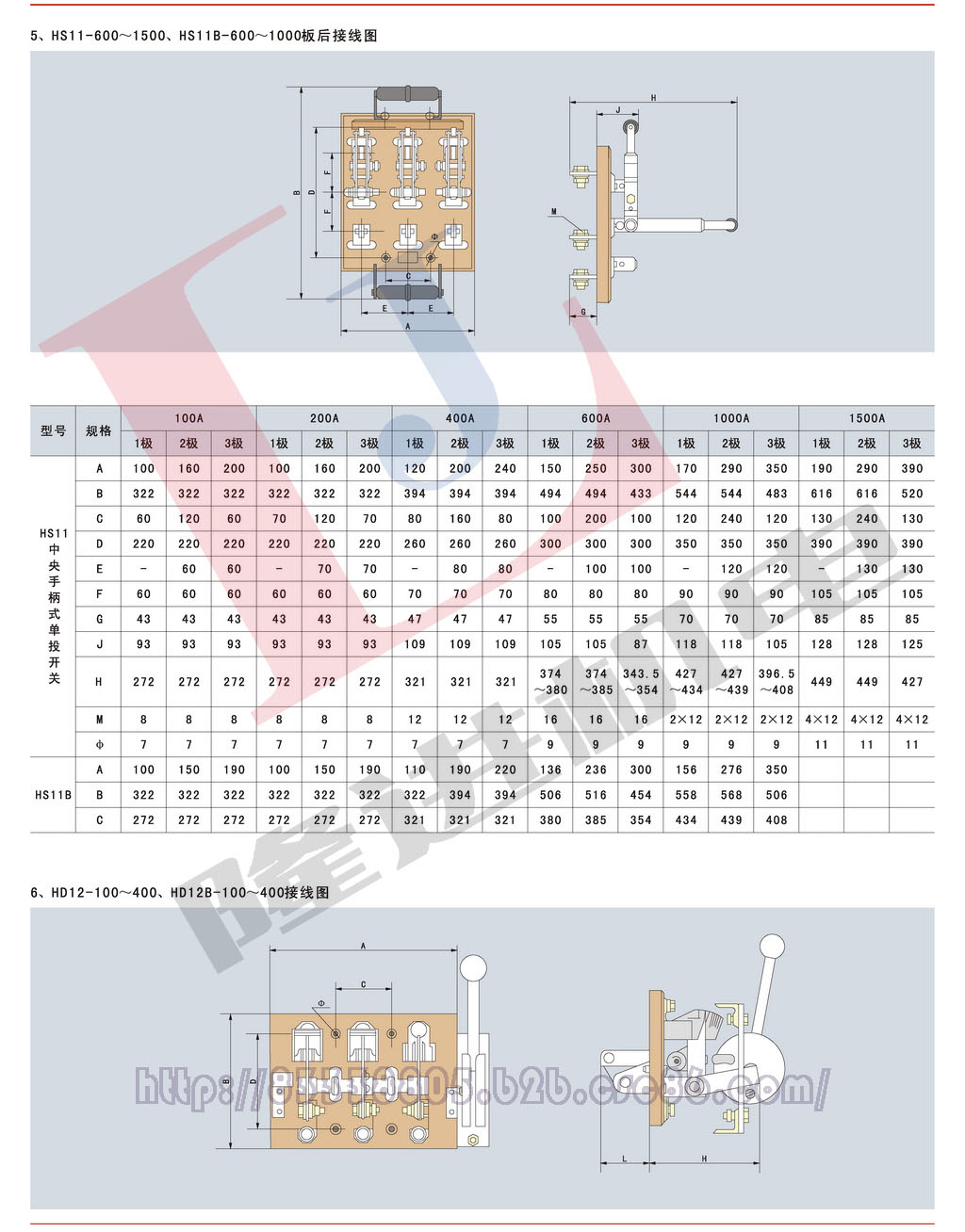 环宇HD/HS系列刀开关图片四