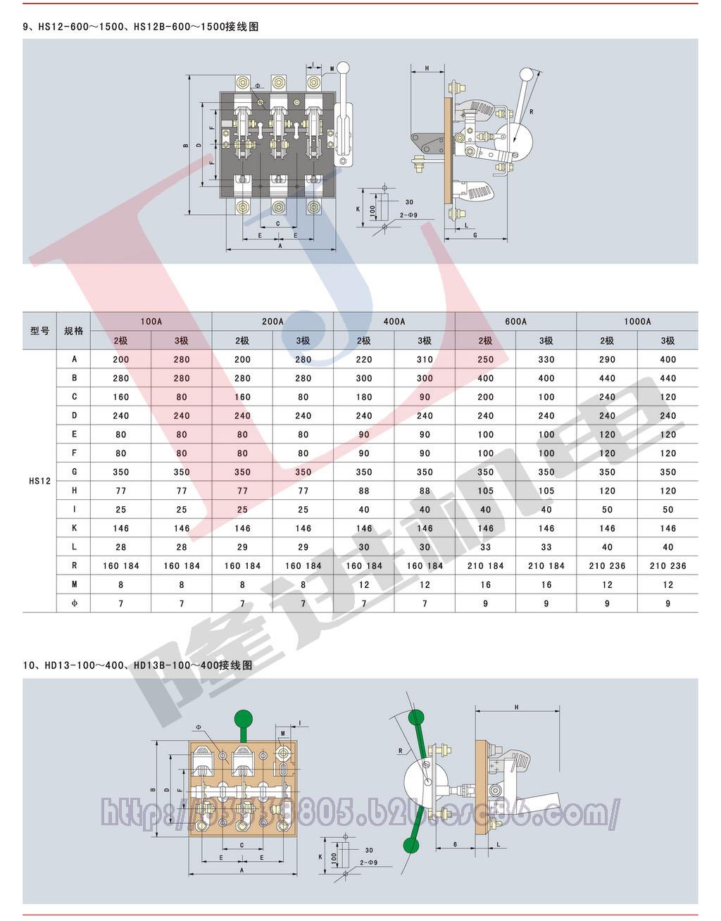 环宇HD/HS系列刀开关图片六