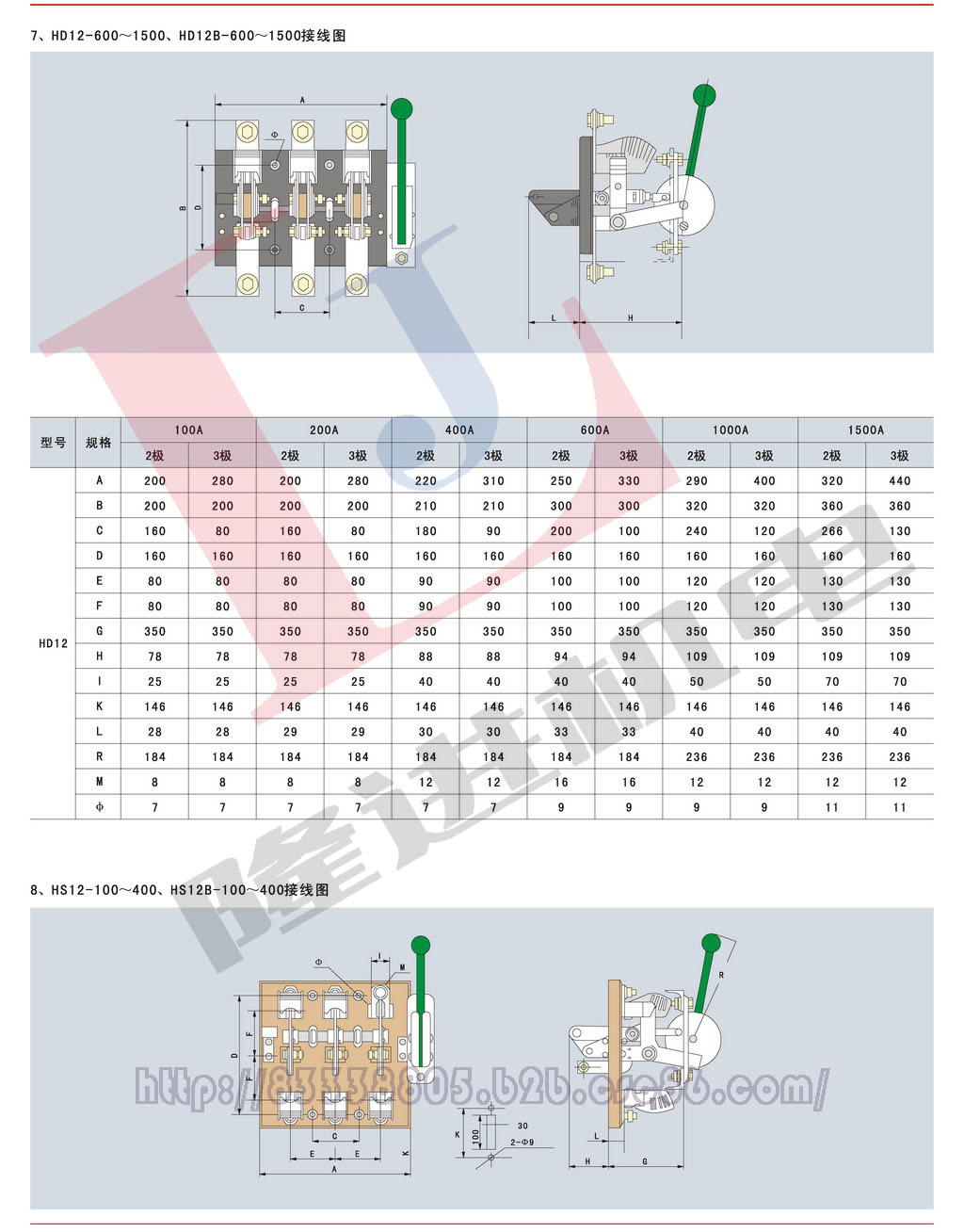 环宇HD/HS系列刀开关图片五