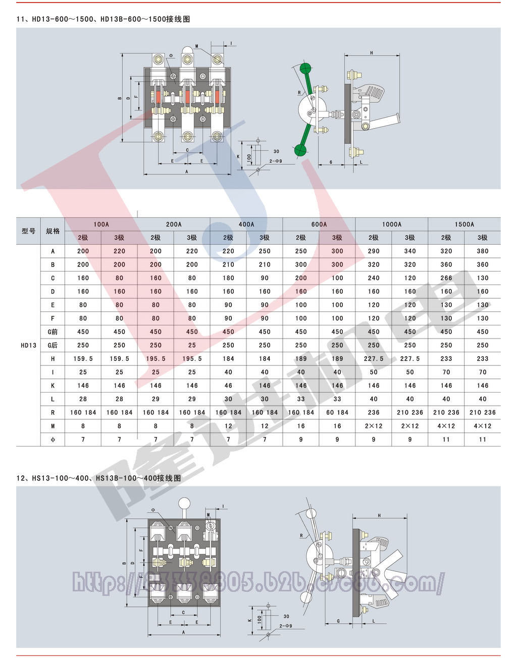 环宇HD/HS系列刀开关图片七