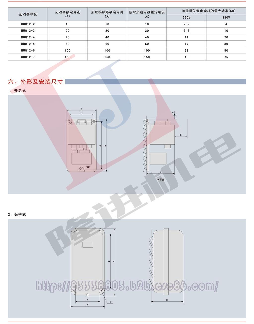 环宇HUQ12系列电磁启动器图片三