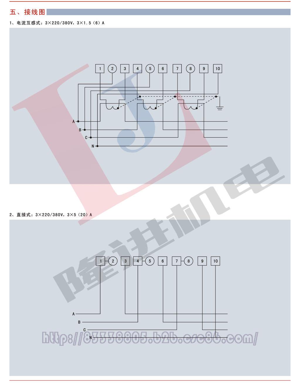环宇DTS881系列三相四线电子式有功电能表图片二