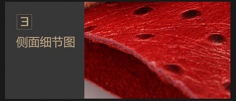 牛头层鸵鸟纹油腊皮 多色现货可订做图片五