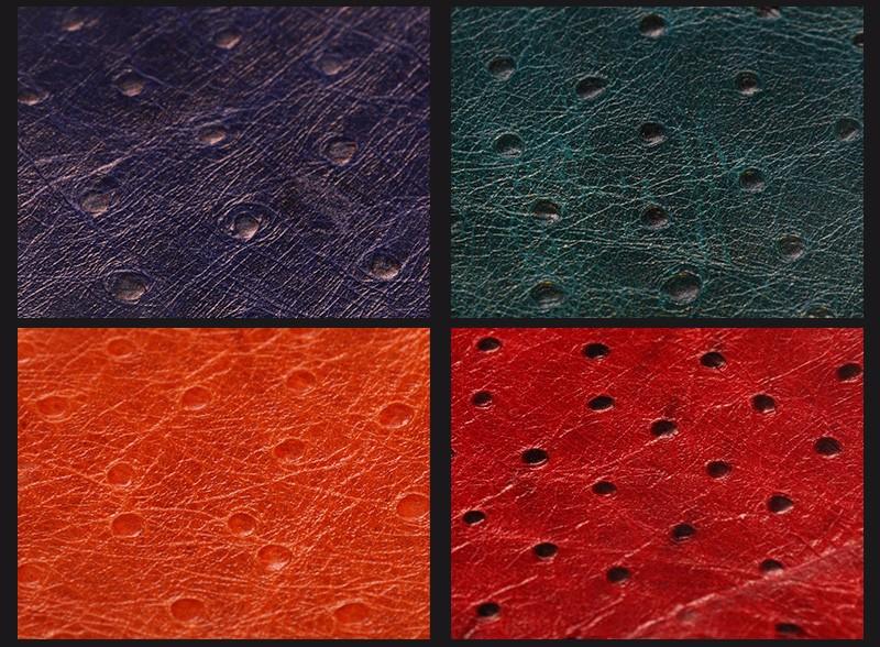 牛头层鸵鸟纹油腊皮 多色现货可订做图片十